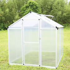 6'x8' Outdoor Greenhouse Heavy Duty Roof Aluminum Plant Walk-in House Shed