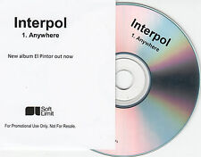 INTERPOL Anywhere 2014 UK 1-trk promo test CD El Pintor
