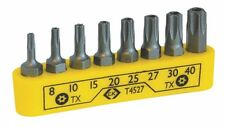 CK T4527 Set of 8 Torx (TX) Star Security Tamperproof Pin Screwdriver Bits
