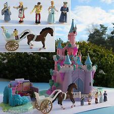 Mini Polly Pocket Disney Cinderella Schloss Licht Stiefmutter und Kutsche Pferd