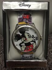 Disney Mickey Mouse Color Comic Strip Strap Women's Watch Brand New