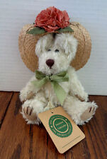 "Boyds Bears 7"" plush from The Archive Collection -- unnamed w/ straw hat"