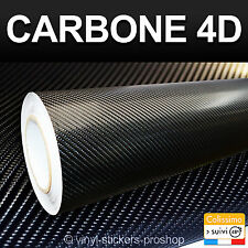 Carbone 4D Noir 70cm X 150cm Pose Facile Thermoformable Customisation Tuning