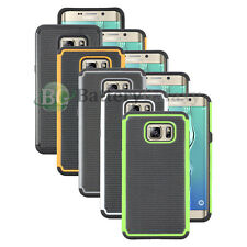 Lot of 5 Black/Orange/White Hybrid Rubber Case for Samsung Galaxy S6 Edge Plus