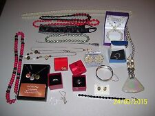 LOT OF MIXED JEWELRY TREASURES, NECKLACES, STERLING SILVER, 925, CORA, RINGS  FS