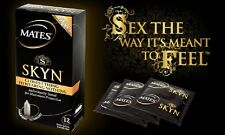 12 MATES SKYN Condoms, Non Latex, Free  P&P, Thin, CE, Discreet