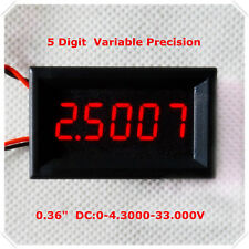 Red LED 5 Digit DC 0-4.3000-33.000V Digital Voltmeter Voltage Meter Car Panel