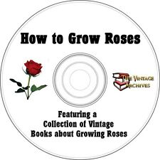 How To Grow Roses Vintage Book Collection on CD