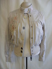 Ladies Coat - River Island, size 12, stone, embroidered, zip up, mid warm 7235