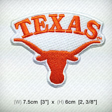 Texas Longhorns Embroidered iron on patch or sew Basketball Sport  DIY Cap Shirt