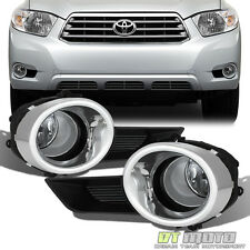 2008-2010 Toyota Highlander Bumper Fog Lights Driving Lamps w/Switch Left+Right
