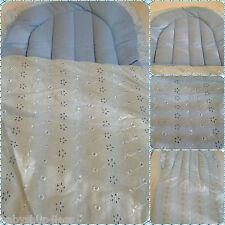 BabyNest dormir sac bébé dormir sac baby nest bleu broderie anglaise en coton mélangé