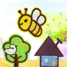 6pcs/2set Embroidered Cloth Iron On Patch Sew Motif Applique Bee Tree House