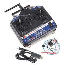 FLYSKY FS-CT6B 2.4GHz 6CH Radio Transmitter & Receiver for Airplane/Glid US 0G7B