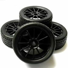 TC0807B 1/8 Scale Rally Buggy RC Wheels and On Road Tread Tyre 10 Spoke Black 4
