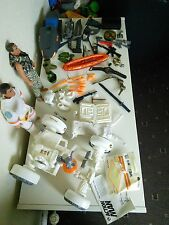 ACTION MAN FIGURE AND VEHICLE LOT, MOON BUGGY, JET SKI 1990'S