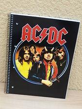 AC/DC Collegeblock Notizblock DIN A4 80 Blatt kariert Block Notizen acdc Motiv 4