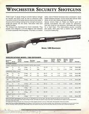 1999 WINCHESTER Model 1300 Defender Security &  Police SHOTGUN AD Advertising
