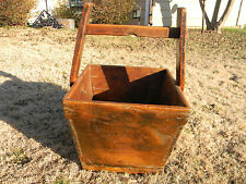 Vintage PRIMITIVE CHINESE WOODEN GRAIN BUCKET RICE BUCKET