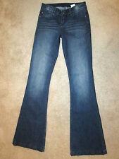 Buffalo David Bitton Floyd Flare Stretch Womens Blue Jeans Size 24 x 34 Mint