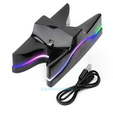 LED Dual Charger Station Charging Stand Dock for Sony Playstation PS4 Controller