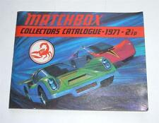 Matchbox Toys, UK Collectors Catalogue Dated 1971, - Superb