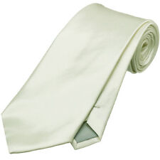 MENS IVORY CHAMPAGNE OFF WHITE 8.5CM TIE necktie wedding plain formal