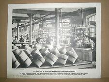 Gravure vieux métiers Intérieur de faïencerie à Lunéville Lorraine