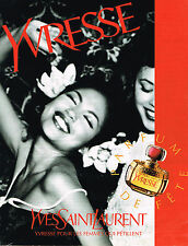 PUBLICITE ADVERTISING 084 1996 YVES SAINT LAURENT parfum YVRESSE          060814