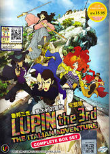 Lupin The 3rd:The Italian Adventure DVD (Eps :1 to 24 end) with English Subtitle