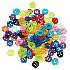 1000 Bottoni 4 Fori in Resina Tondo Multicolore 9 mm dia.