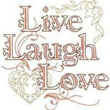 OESD Embroidery Machine Designs CD LIVE LAUGH LOVE