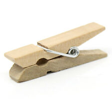 50 Small Wood Clothespin Clip Findings, fin0247