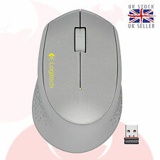 Logitech M320 wireless optical Mice with nano receiver Silve new m325! free DEL!