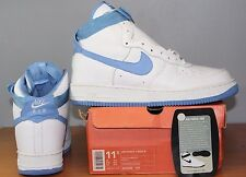 Nike Air Force 1 High Sz 11.5 DS White Columbia Blue UNC SHEED VTG 2001