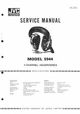 JVC Service Manual für Headphone 5944