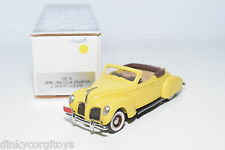 DURHAM DC-4 DC 4 LINCOLN ZEPHYR CONVERTIBLE 1938 YELLOW MINT BOXED