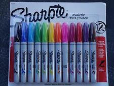 Sharpie 12 Brush-tip Permanent Markers