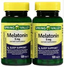 Spring Valley Melatonin Tablets, 5mg, 120 Pc, 2 Ct