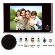 "3.5"" Digital Doorbell 120° Peephole Viewer IR Camera Video Security Door Bell"