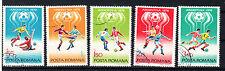 Rumänien Briefmarken 1978 Fussball WM Argentinien Mi.Nr.3506-10
