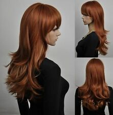 LMRA505 Long fashion brown red mixed health Cosplay hair Wig wigs for women