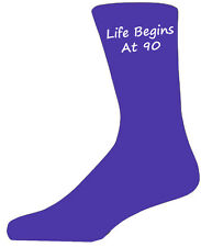 Quality Purple Life Begins at 90 Socks, Lovely Birthday Gift