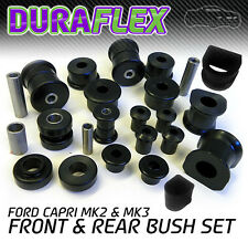 FORD CAPRI Mk 2 & Mk 3 Front and Rear Bush Set in Black Polyurethane