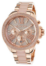 Michael Kors Watches MK6096 Wren Pavé Acetate and Rose Gold-Tone Authentic Women