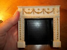 IVORY  MINIATURE  FIREPLACE  - DOLL HOUSE MINIATURE