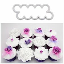 3pcs Cake Rose Flower Cutter Mold Fondant Decor Mould Sugarcraft Tool easy