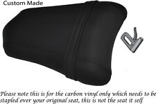 CARBON FIBRE VINYL CUSTOM FITS DUCATI 749 999 REAR PILLION PASSENGER SEAT COVER