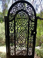 Metal Gate Custom Pedestrian Walk Thru Wrought Iron Steel Garden Art Ornamental