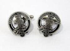 Scottish Clan Macgregor Crest Cufflinks, English Pewter, Handmade, Gift Boxed H